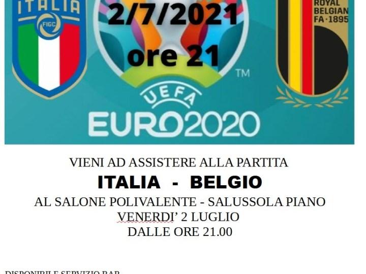 Tifa ITALIA, contro il Belgio, venerdì al Salone Polivalente