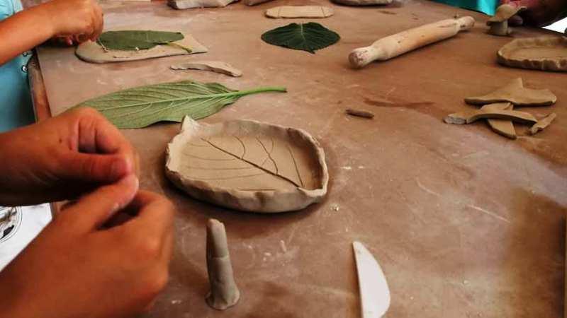 Seconda lezione laboratorio di ceramica al museo Salussolese