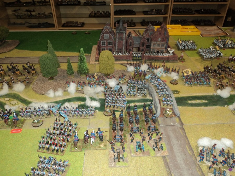 More Bavarians rush across the river but are unformed as they do so.