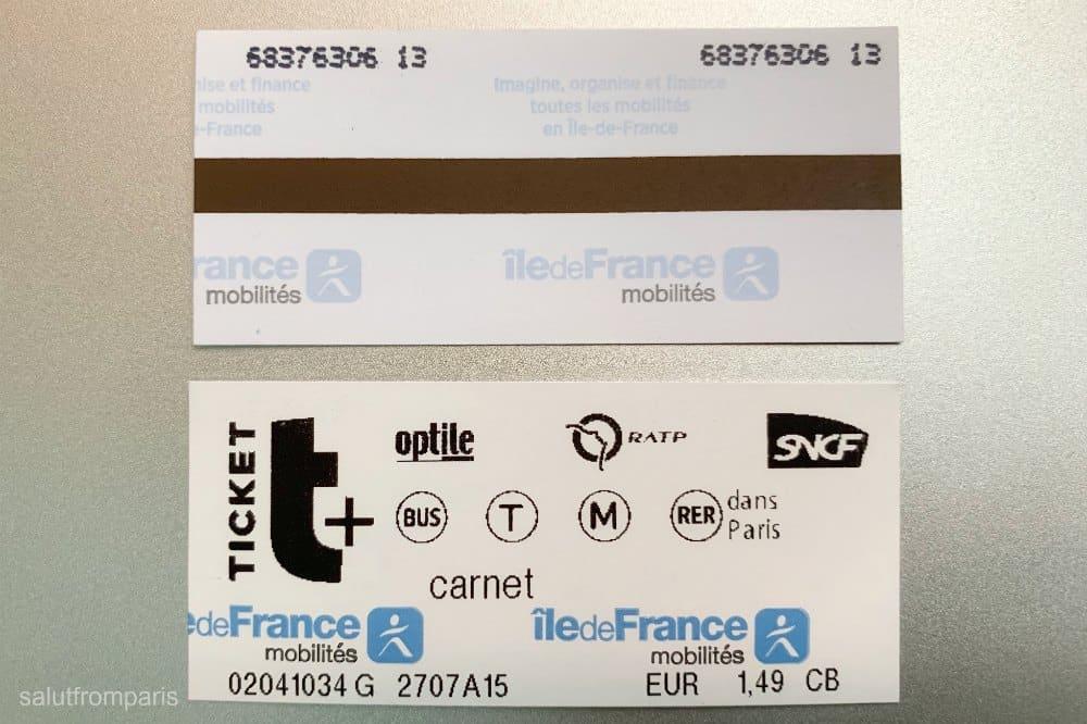 Paris Metro ticket