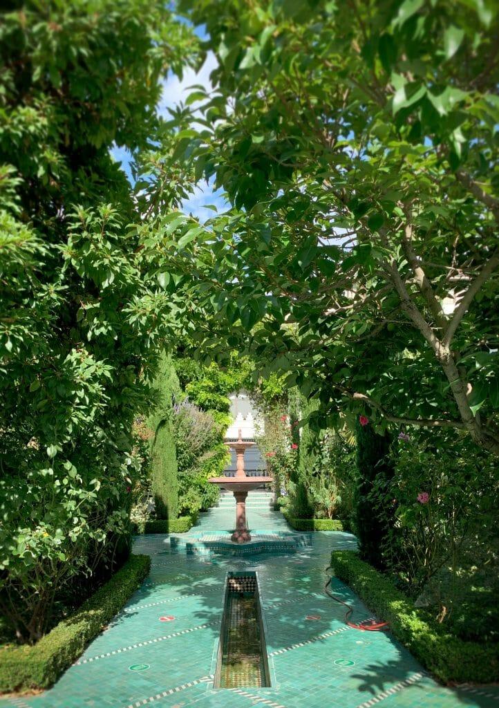 Lush Gardens at the Grande Mosque
