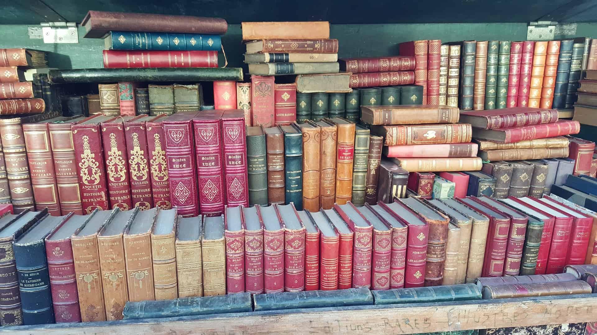 hidden gems Paris - visit the covered book market at Parc Georges Brasses
