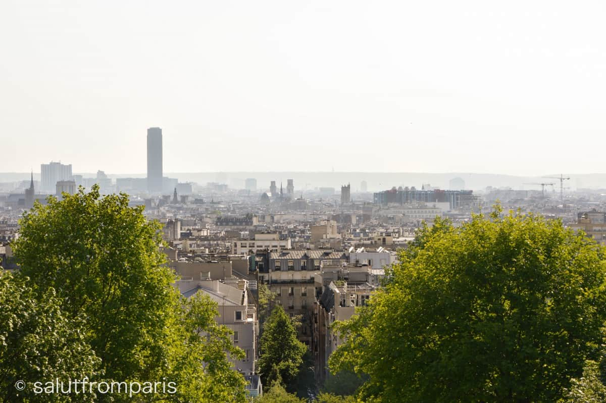 The top of Belleville Paris viewpoints