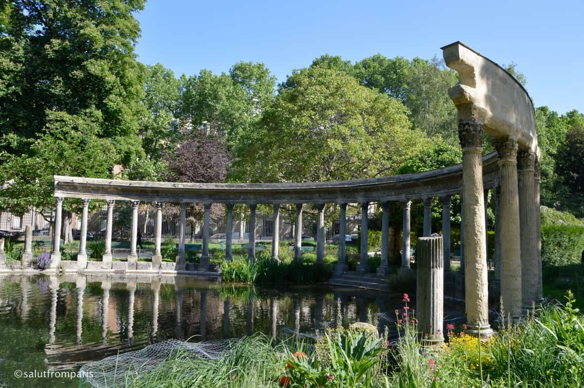 Parc Monceau in Paris - one of the nicest Parks and one of the richest