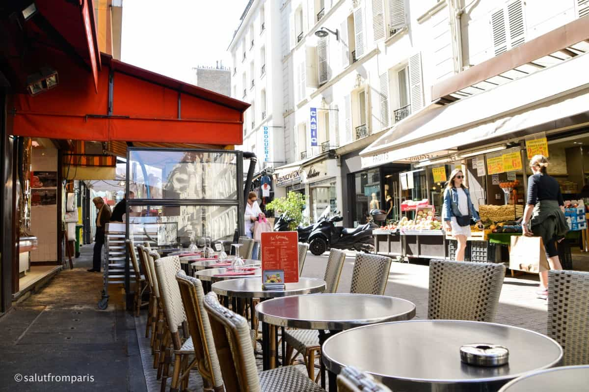 Rue de Lévis - pedestrian street with great delis, cafés and stores - one of the highlights of our walking tour through the 17th arrondissement