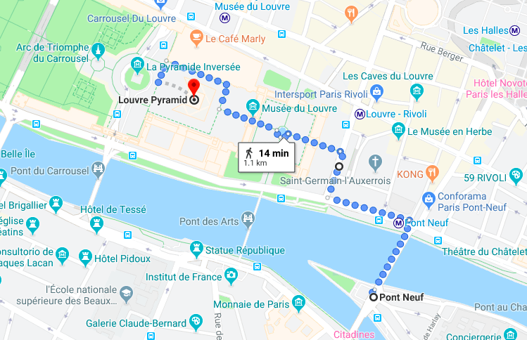 visiting Paris in one day - All in one Paris - visit the Louvre and the Île de la Cite and make the best out of your Paris day trip with our Paris in a day itinerary
