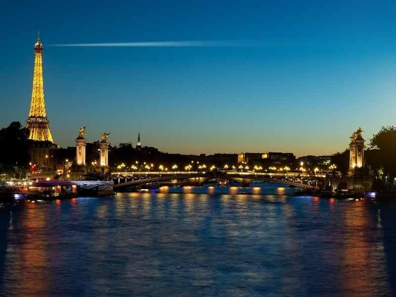 Paris in the night