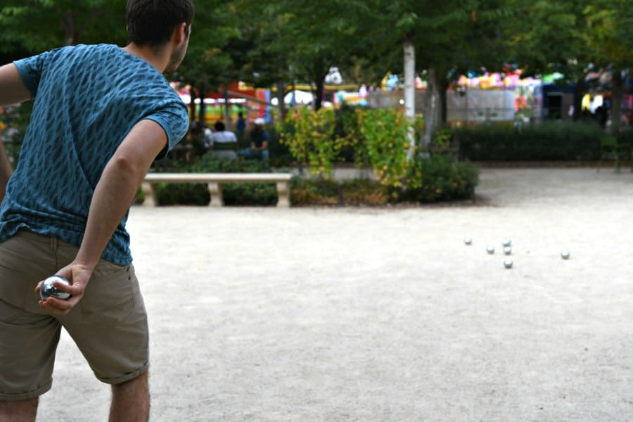 Playing Pétanque is a great thing to do if you are wondering what to do in Spring in Paris