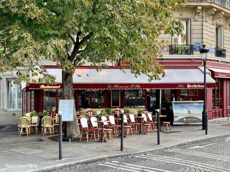 Le Flore En L'ile - where she meets Luc