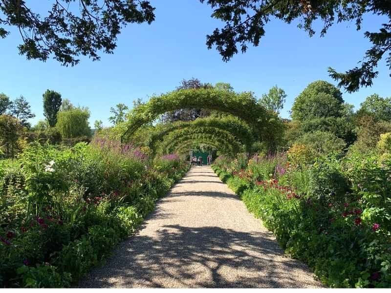The orchard of Monet - one of the two gardens of the famous impressionist