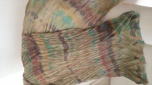 Técnica Shibori Arashi en chal seda