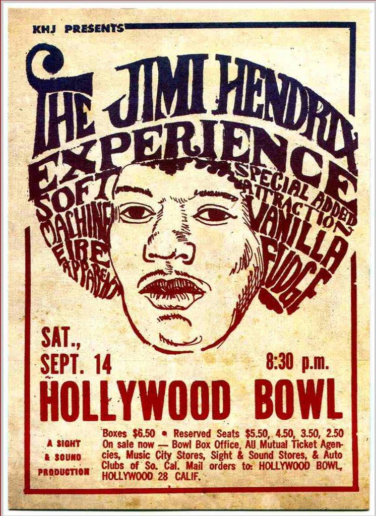 Jimi Hendrix Experience Soft Machine Vanilla Fudge live at Hollywood Bowl sept 1968 14