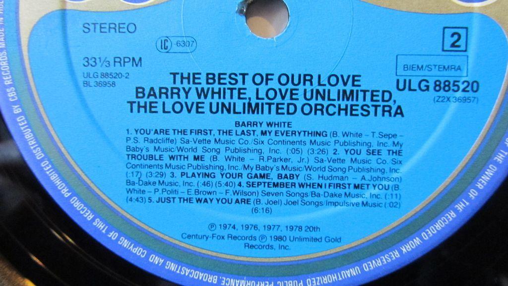 Barry White Love Unlimited Orchestra Etichetta Lato 2