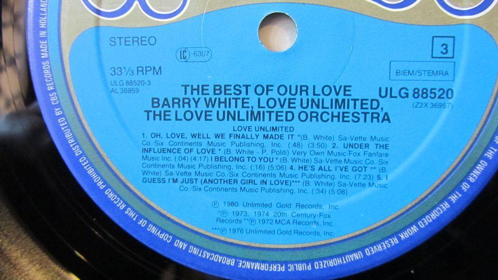 Barry White Love Unlimited Orchestra Etichetta Lato 3