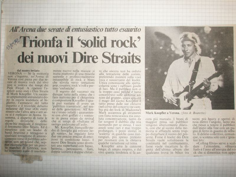 Knopfleriani.it Dire Straits On Every Street Tour 1992