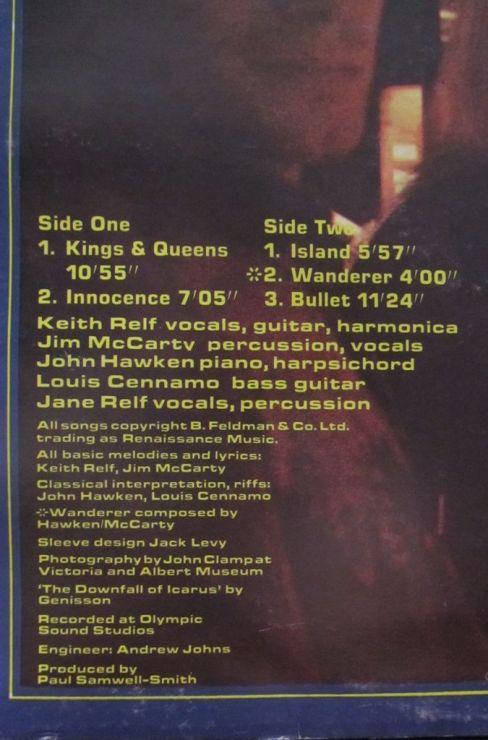 Renaissance Album Omonimo Titoli e Credits