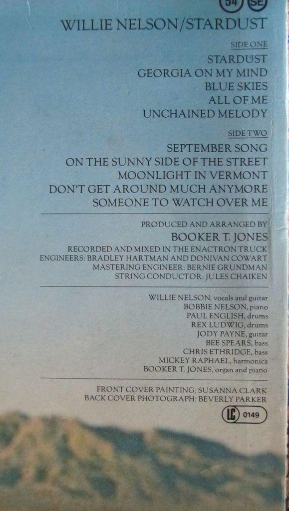 Willie Nelson Stardust Crediti
