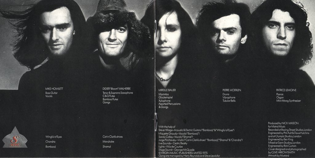 Gong, Pierre Moerlen, Didier Malherbe, Steve Hillage