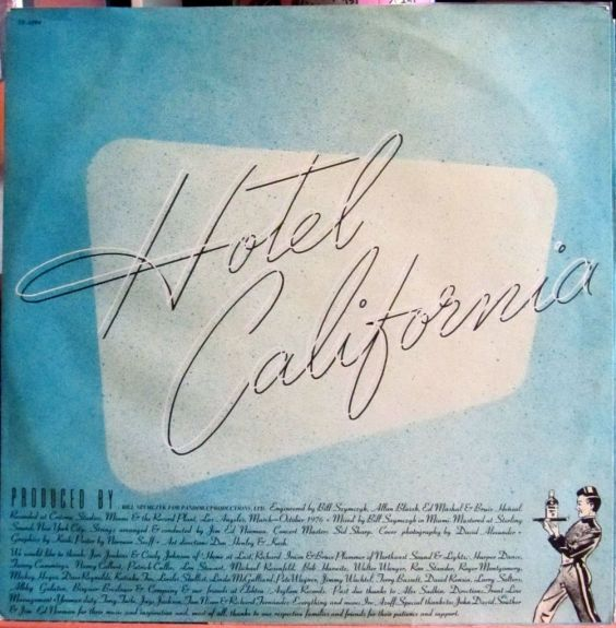 Eagles Hotel California Inner