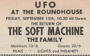 Ufo at the Roundhouse,