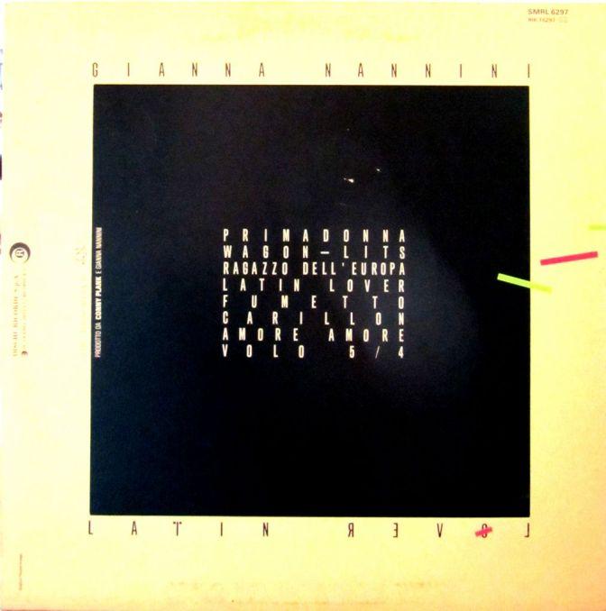 copertina, vinile, gianna nannini, LP, cover