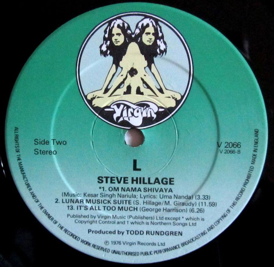 Label, etichetta di Steve Hillage