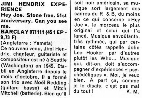 Jimi Hendrix Article, Newspaper