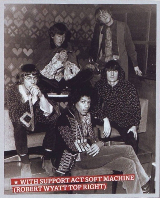 Soft machine, robert wyatt, jimi hendrix, speakeasy, london, 1967