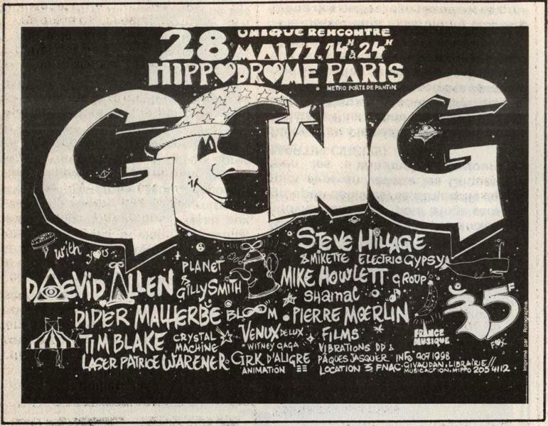 """Il manifesto della reunion Gong, gli Strontium vengono accreditati come """"Mike Howlett Group"""""""