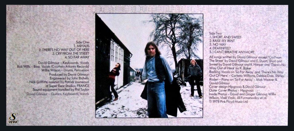 Gilmour on SHRC dischi solisti pink floyd