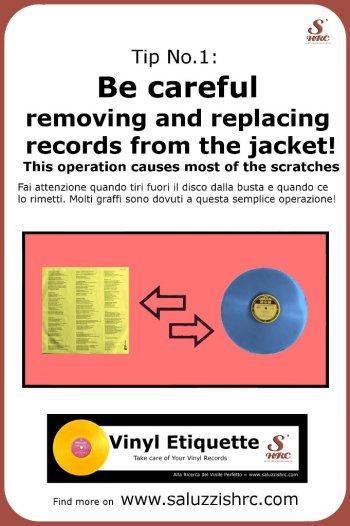 Vinyl Etiquette 1 Remove from jacket manutenzione dischi vinile