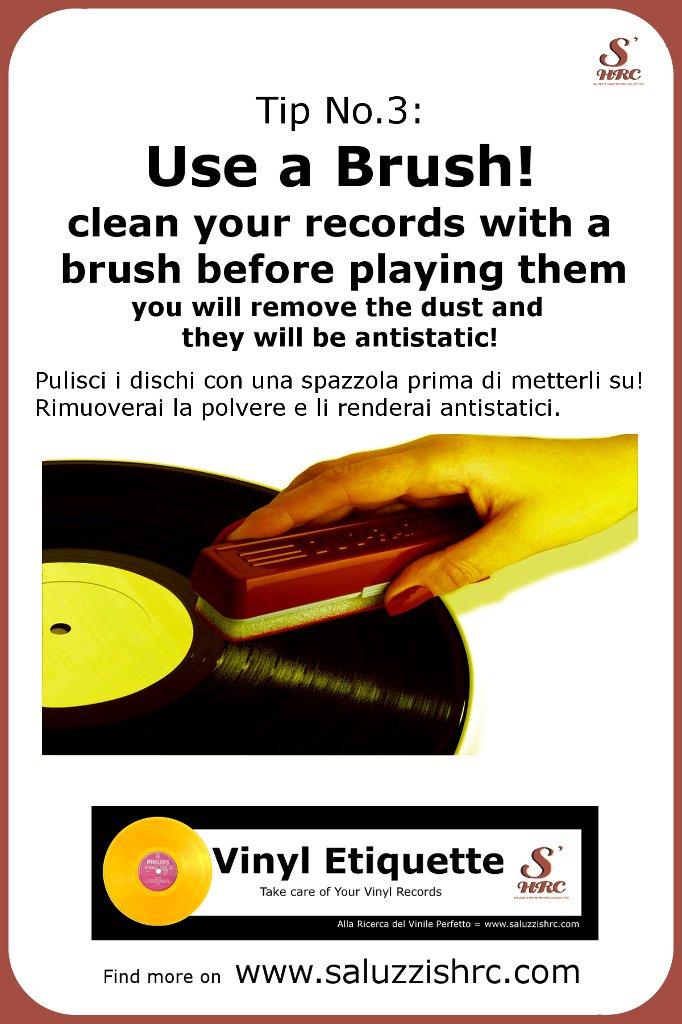 Vinyl Etiquette Manutenzione Vinile Vinyl Brush