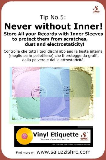 Vinyl Etiquette 5 Inner Sleeve