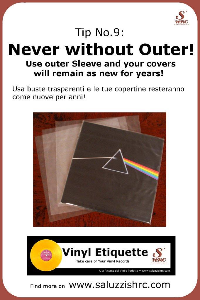 Vinyl Etiquette Manutenzione Vinile  Outer Sleeve conservare dischi in vinile