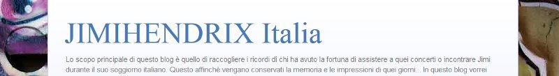 JimiHendrix Italia Banner