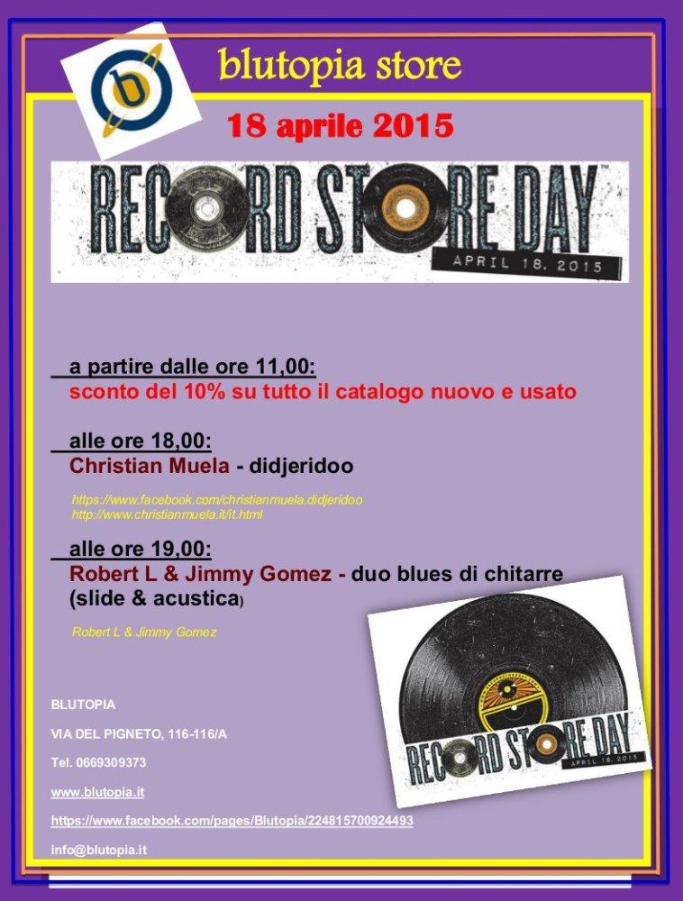 Record Store Day 2015: Eventi a ROMA (5/6)