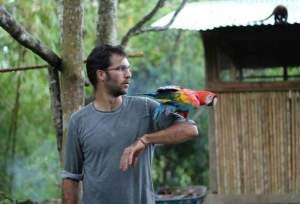 Pablo Yglesias en la reserva Tierra Linda