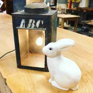 Creating a lamp from vintage lantern housing