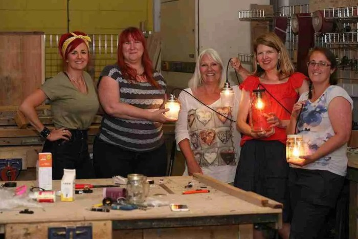 Lamp making workshop in Brighton