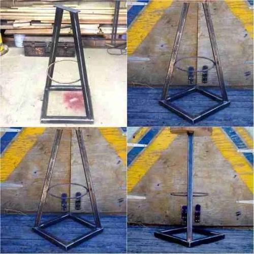 Steel stool base