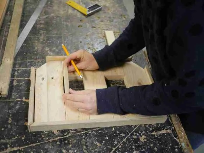 Using reclaimed wood to make the alphabet class in brighton