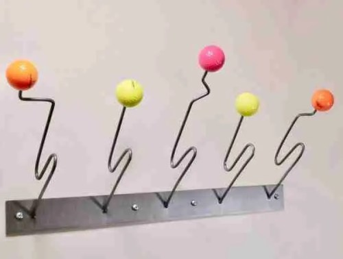 multi colour coat wall hung coat and hat rack