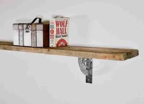 industrial style metal shelf brackets