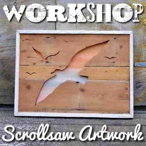 scrollsaw wooden artwork short crafting course brighton