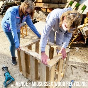 Making a hedgehog hotel from pallets