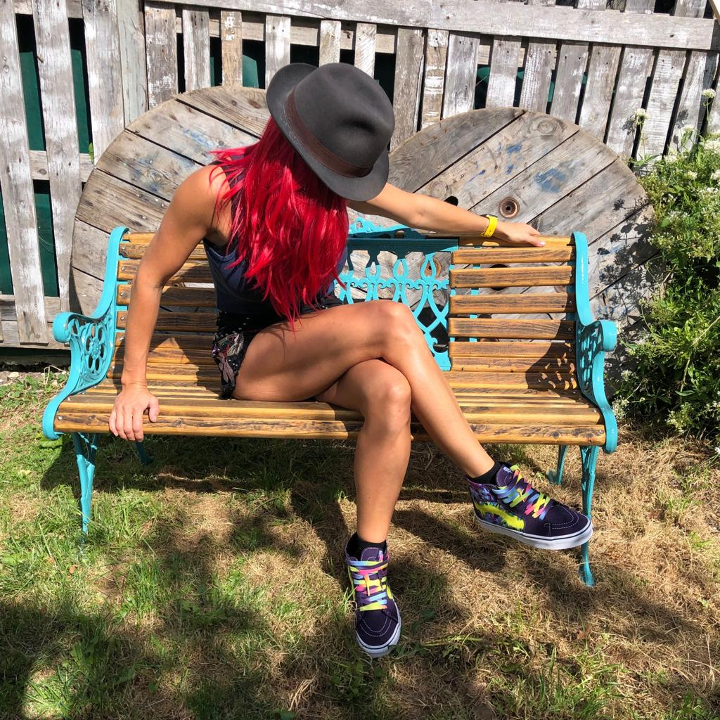Handcrafted bench created from West Pier Salvage