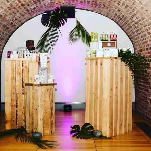 Zero waste pallet plinths for event displays