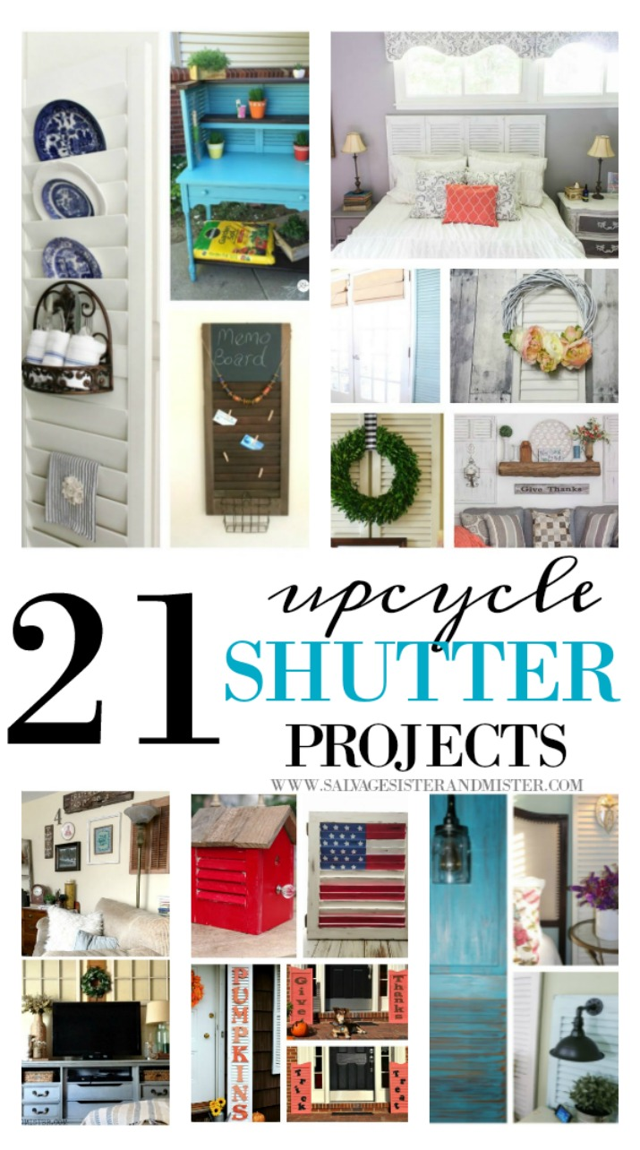 21 Upcycled Shutter Projects Salvage Sister And Mister