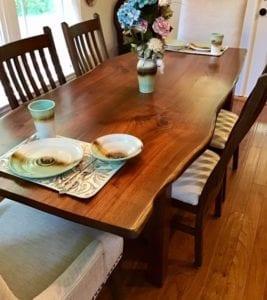 Asheville handmade table