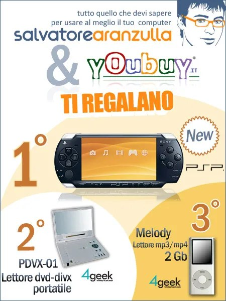 SA e YouBuy ti regalano una PSP Slim